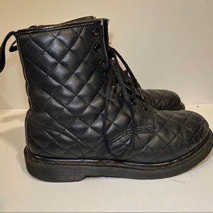Dr. Marten quilted all black boots